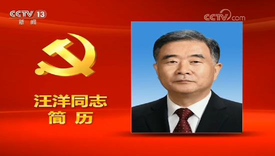 视频:汪洋同志简历