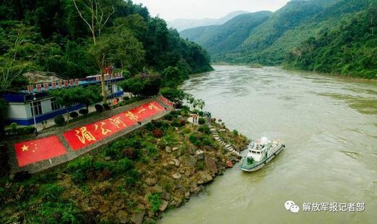 巡航经过湄公河第一哨。