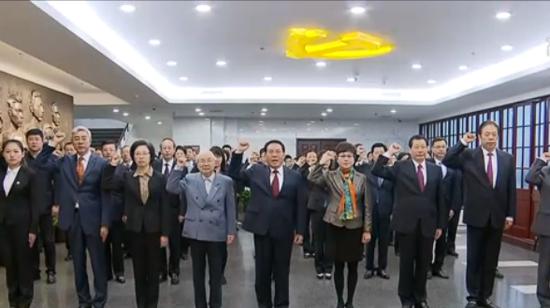 李强同上海全市党员代表集体瞻仰一大会址