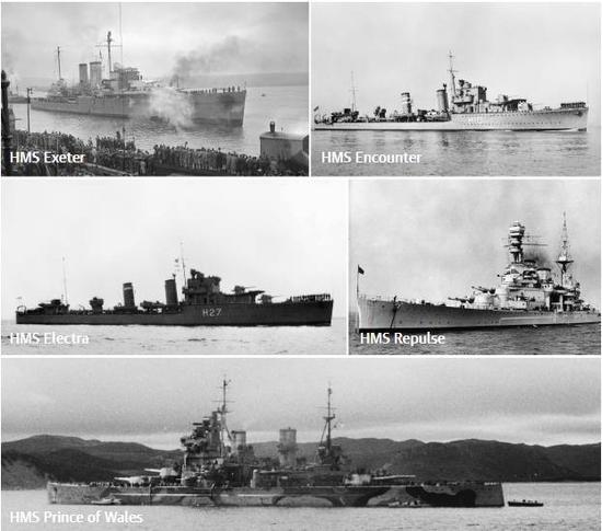 ▲英国皇家海军二战期间在爪哇海海域沉没的军舰 图据《卫报》