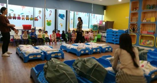 11月8日15时30分许,携程亲子园仍有班级在上课。澎湃新闻记者 李菁 摄