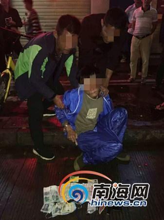 嫌疑男子冯某全被龙华便衣警察大队抓获。龙华警方供图
