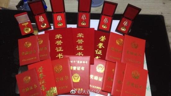 尹寿江获得的荣誉证书