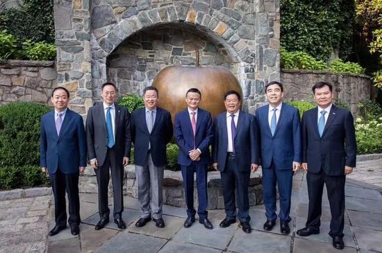 △参加首届中美企业家峰会的中方企业家
