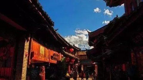 ▲丽江古城的一角。