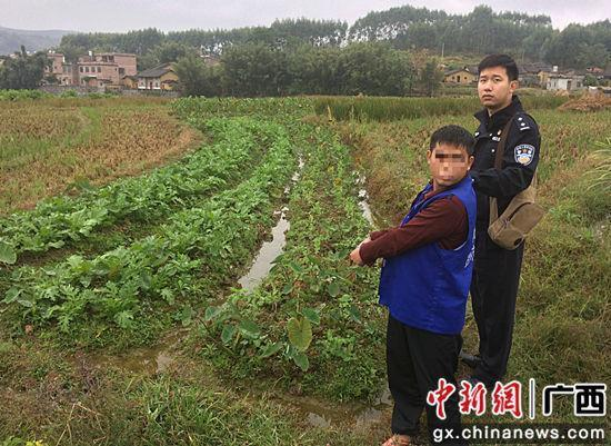 11月16日,犯罪嫌疑人被警方押解到案发现场指认。警方供图