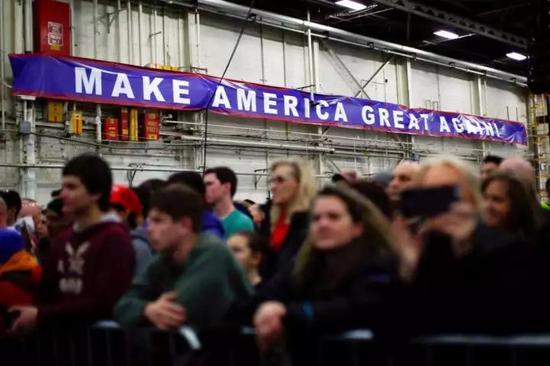 ▲特朗普在竞选中获得大量蓝领工人的支持。(盖帝图像)
