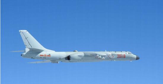 轰-六K型轰炸机。(图片来源:台湾《联合报》)