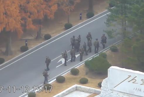 朝鲜士兵叛逃遭枪击视频曝光