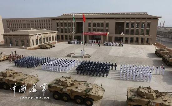 ▲资料图片:8月1日,中国人民解放军驻吉布提保障基地队伍进驻营区仪式在基地营区举行。(中国军网)