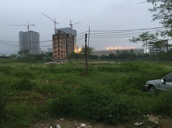 杨美兰家的楼耸立在深圳北站四周的空隙上。 本文图片 汹涌新闻记者 于亚妮