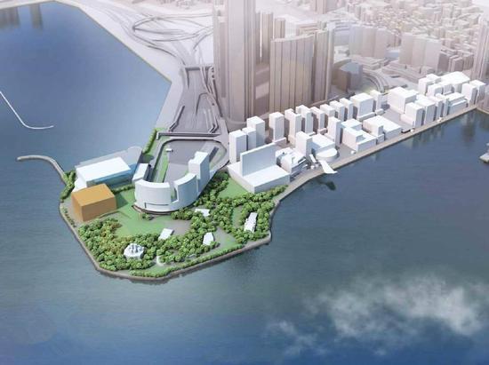 香港故宫文化博物馆将于2022年落成,图为其设计概念(图源:港媒)