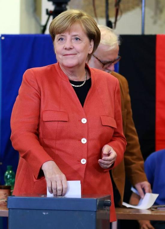 资料图:德国总理默克尔 新华社记者罗欢欢摄