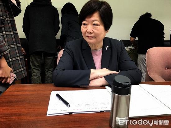 """蔡英文表姐、台""""劳动部长""""林美珠。(图片来源:台湾""""东森新闻云"""")"""