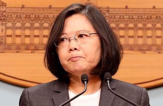 台湾地区领导人蔡英文。(图片来源台媒)