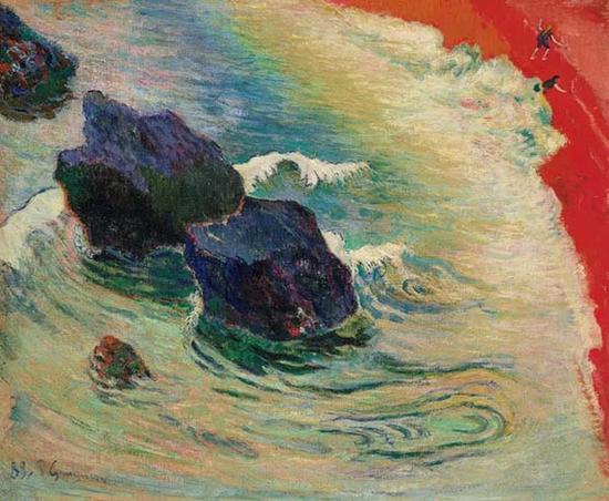 高更,《海浪》,1888年8月-10月,成交价格:12,968,750美元