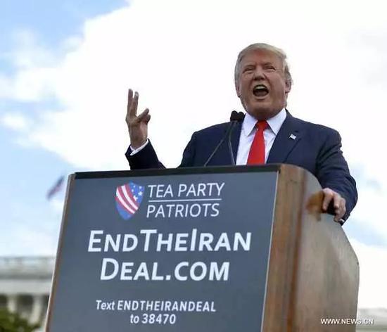 ▲资料图片:自竞选以来,特朗普就一直扬言美国要退出伊朗核协议。(新华社)