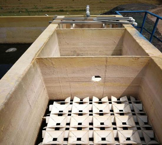 空空如也的一体化氨氮处理设施