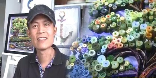 视频:患癌12年病情已严重 他却创作出绝美卷纸画