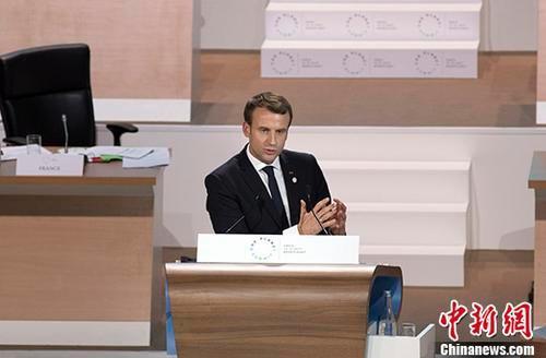 資料圖:法國總統馬克龍。 中新社發 官方供圖
