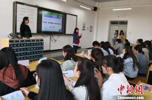 资料图:大学课堂。 刘玉桃 摄