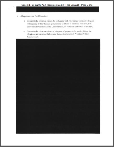 2017年8月2日美国司法部副部长罗森斯坦就第3915号指令的调查范围和权限给穆勒写的备忘录