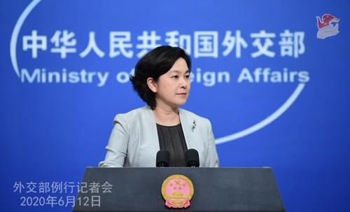 2020年6月12日外交部发言人华春莹主持例行记者会图片