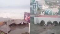 印尼地震引发海啸 2米高海浪席卷城镇
