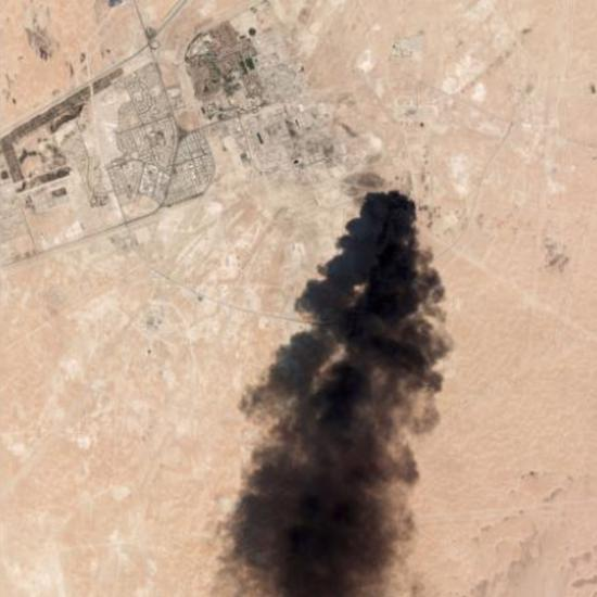 △好联社正在14日得到沙特油田设备的卫星图