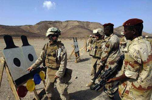 圖爲美軍在非洲執行顧問任務