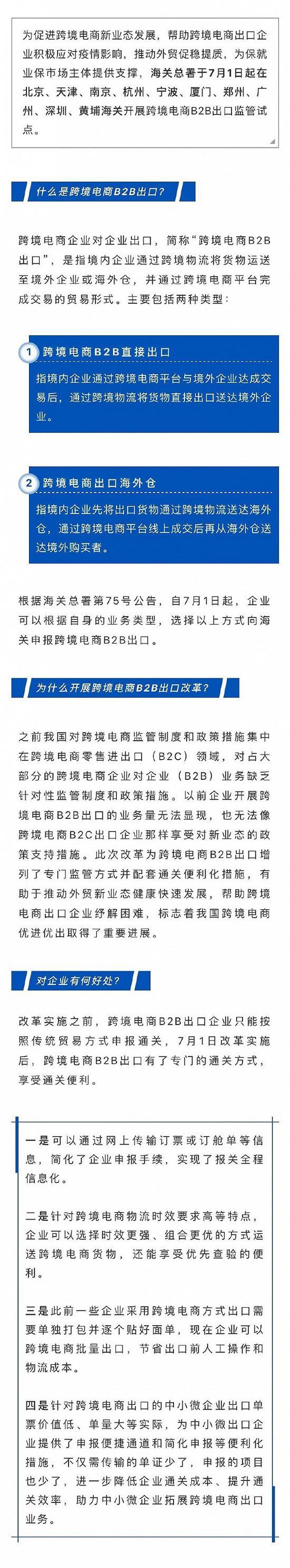 [摩天注册]州等海关开摩天注册展跨境电商B2B出口图片