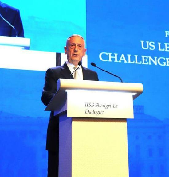 香会上的美国防部长马蒂斯