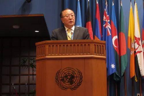 张军出席联合国亚太经社会第74届年会。来源:外交部官网