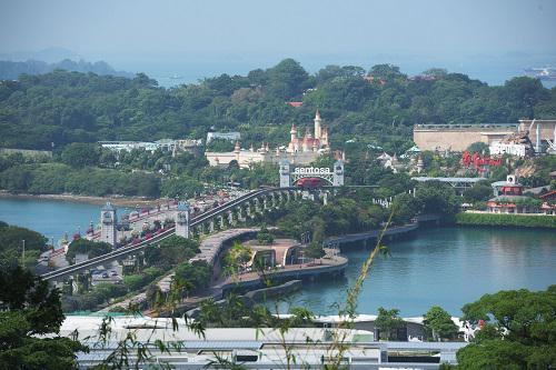 这是6月6日拍摄的新加坡圣淘沙岛。新华社发