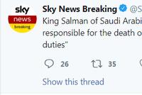 沙特国王:将追究导致哈苏吉死亡的相关人员责任