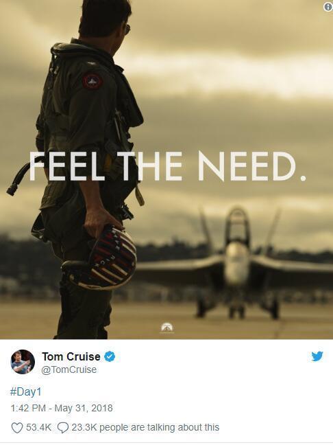 汤姆·克鲁斯5月31日的推文