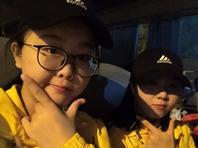北京马拉松美女志愿者耀眼