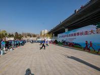 2019北京昌平农民春季长走大会在滨河公园举行