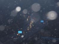 北京初雪来了!