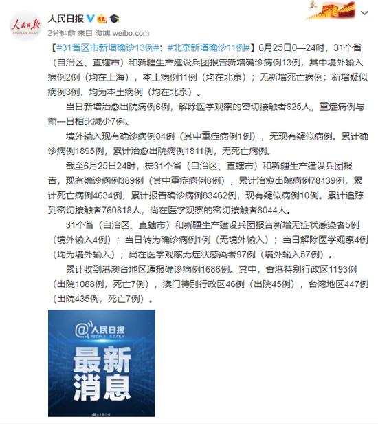 摩天平台新增确诊摩天平台13例北京新增确图片