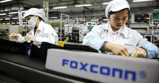 ▲苹果公司主要供应商富士康的中国工厂