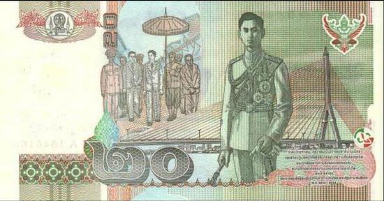 ↑泰国20泰铢纸币(图片来源网络)
