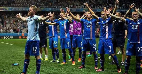 """冰岛队的""""维京战吼"""""""