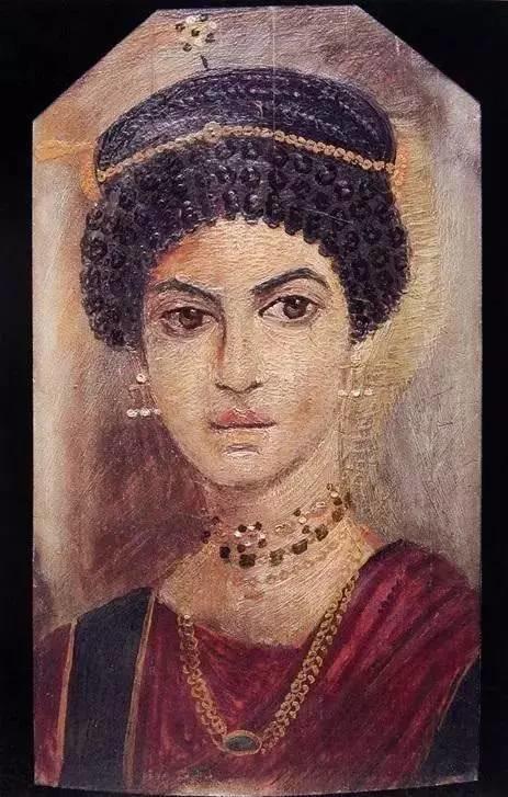 《女性肖像》,木板蜡画,约公元110-130年,出自埃及艺术家之手,现存于苏格兰皇家博物馆。