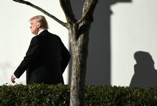 資料圖片:美國總統川普。新華社記者 殷博古 攝