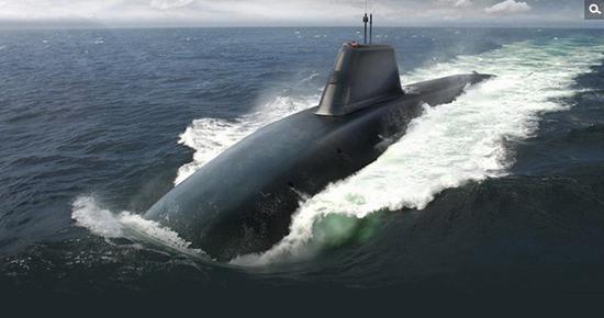 """英國""""無畏""""級核潛艇設想圖"""