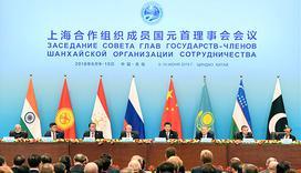 上合成员国领导人共同会见记者