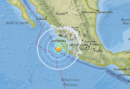 墨西哥太平洋沿岸海域发生6.0级地震 未传灾情