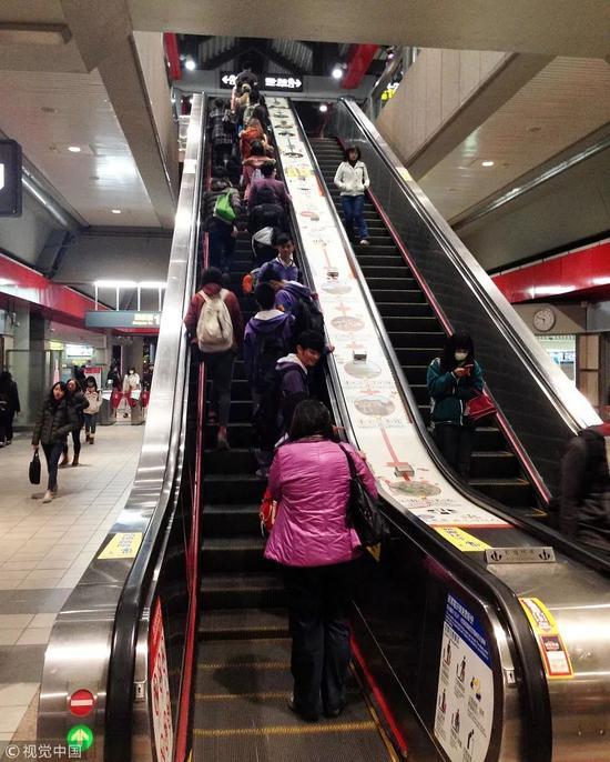 ▲2018-07-19,台湾省台北市某捷运站。图/视觉中国。