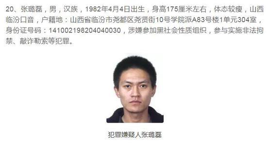 公安部A级通缉令通缉重大在逃人员张璐磊回国投案|通缉令
